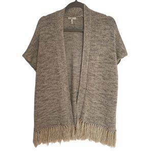 JOIE Sona Short Sleeve Fringe Hem Sweater XS